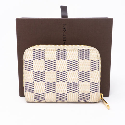 Zippy Coin Purse Damier Azur