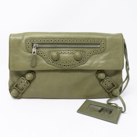 Giant Envelope Clutch Green