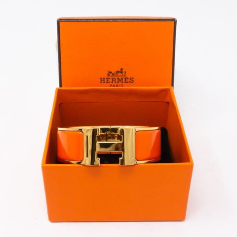 Clic Clac H Bracelet Medium Orange Gold