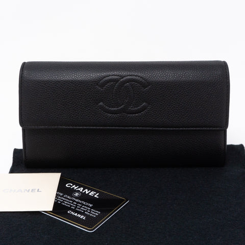 Continental Flap Wallet Black Caviar