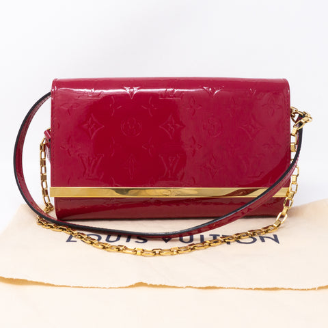 Ana Clutch Vernis Indian Rose