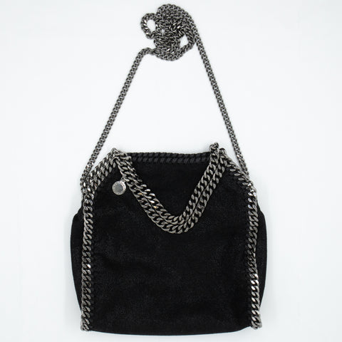 Falabella Fold Over Tote Mini Black