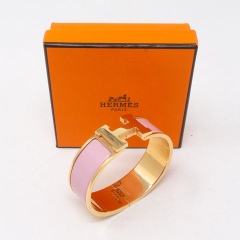 Clic Clac H Bracelet Medium Pink Rose Gold
