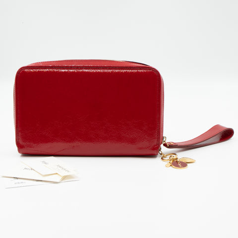 Pochette Charms Red Patent Leather