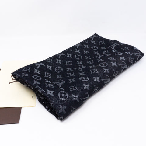 Monogram Shine Shawl Black