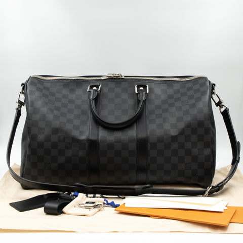 Keepall 45 Bandouliere Damier Graphite