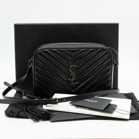 Monogram Lou Medium Crossbody Black Leather