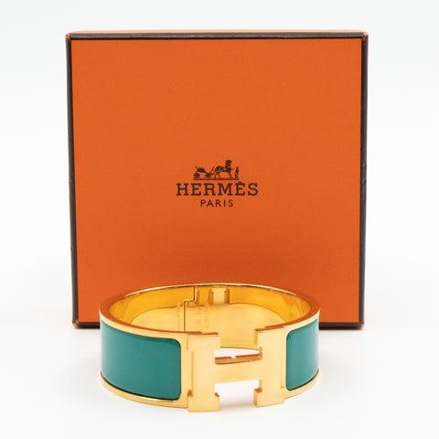 Clic Clac H Bracelet Medium Green Gold