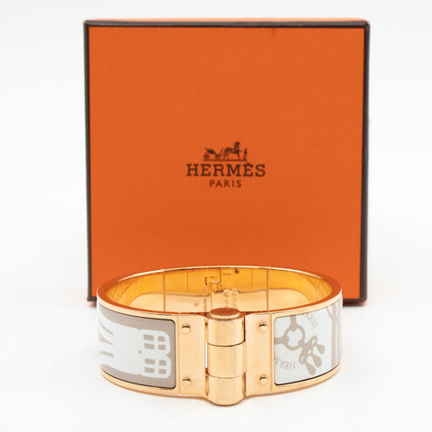 Hinged Bracelet White Rose Gold