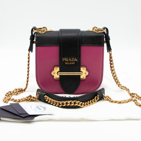 Pionniere City Pink Leather Crossbody Bag