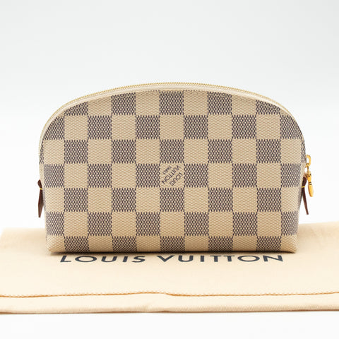 Cosmetic Pouch PM Damier Azur