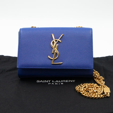 Monogram Kate Small Royal Blue Leather