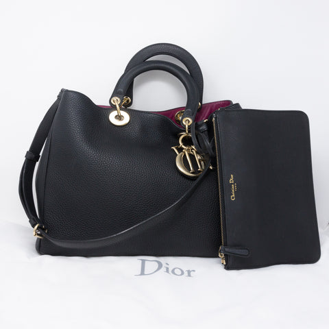 Diorissimo Black Fuchsia Leather