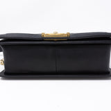 Boy Medium Black Lambskin Gold