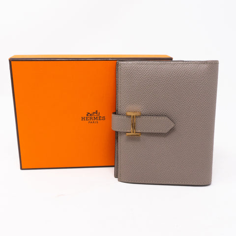 Bearn Compact Wallet Etoupe Leather