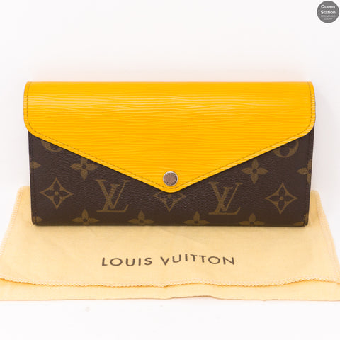 Long Marie-Lou Wallet Yellow Epi Leather