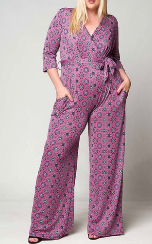 MEDALLION PRINT Jumpsuit (PLUS)