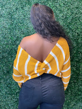 Load image into Gallery viewer, Mustard Off Shoulder Sweater