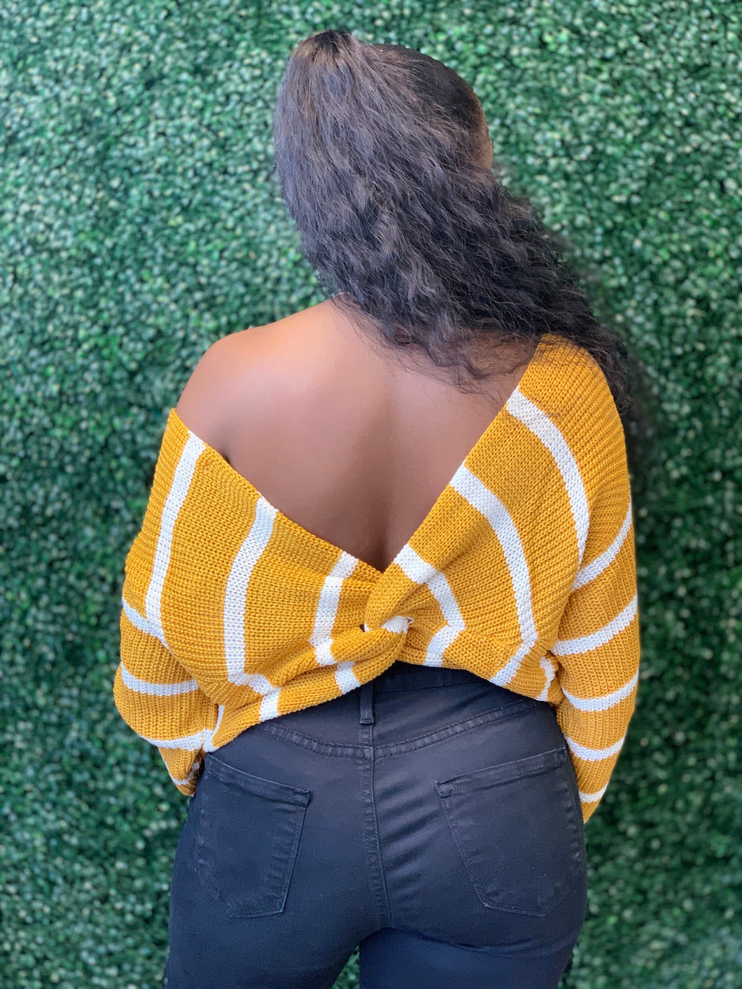 Mustard Off Shoulder Sweater