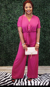 Raspberry Jumpsuit