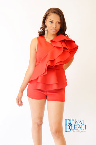 Holiday Ruffle Romper