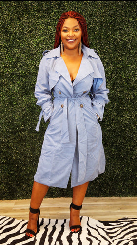 Powder Bleau Trench Jacket