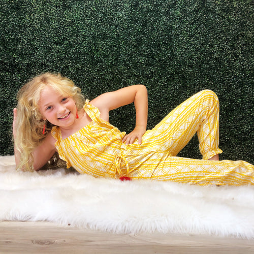 Kids yellow jumpsuit
