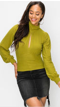 Load image into Gallery viewer, Apple Green Crop Turtle Neck