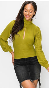 Apple Green Crop Turtle Neck