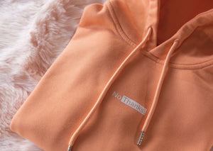 NO THANKS. MANGO ORANGE HOODIE