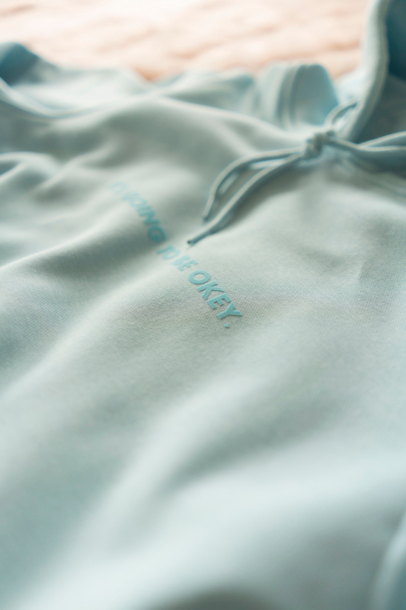 IT'S GOING TO BE OKEY. OVERSIZED HOODIE BABY BLUE