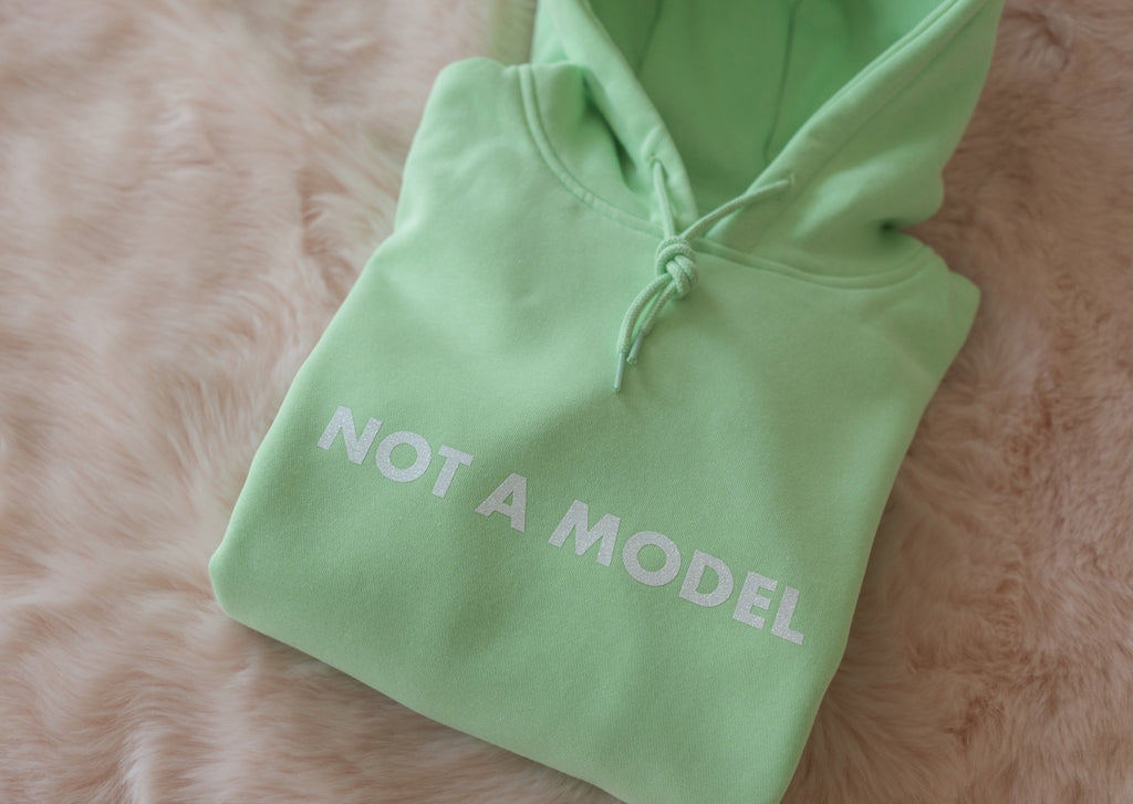 NOT A MODEL OVERSIZED MINT GREEN HOODIE