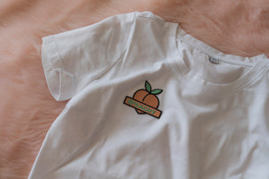#PEACHY CROP TOP WHITE