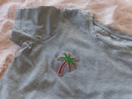 PALMTREE CROP TOP GREY