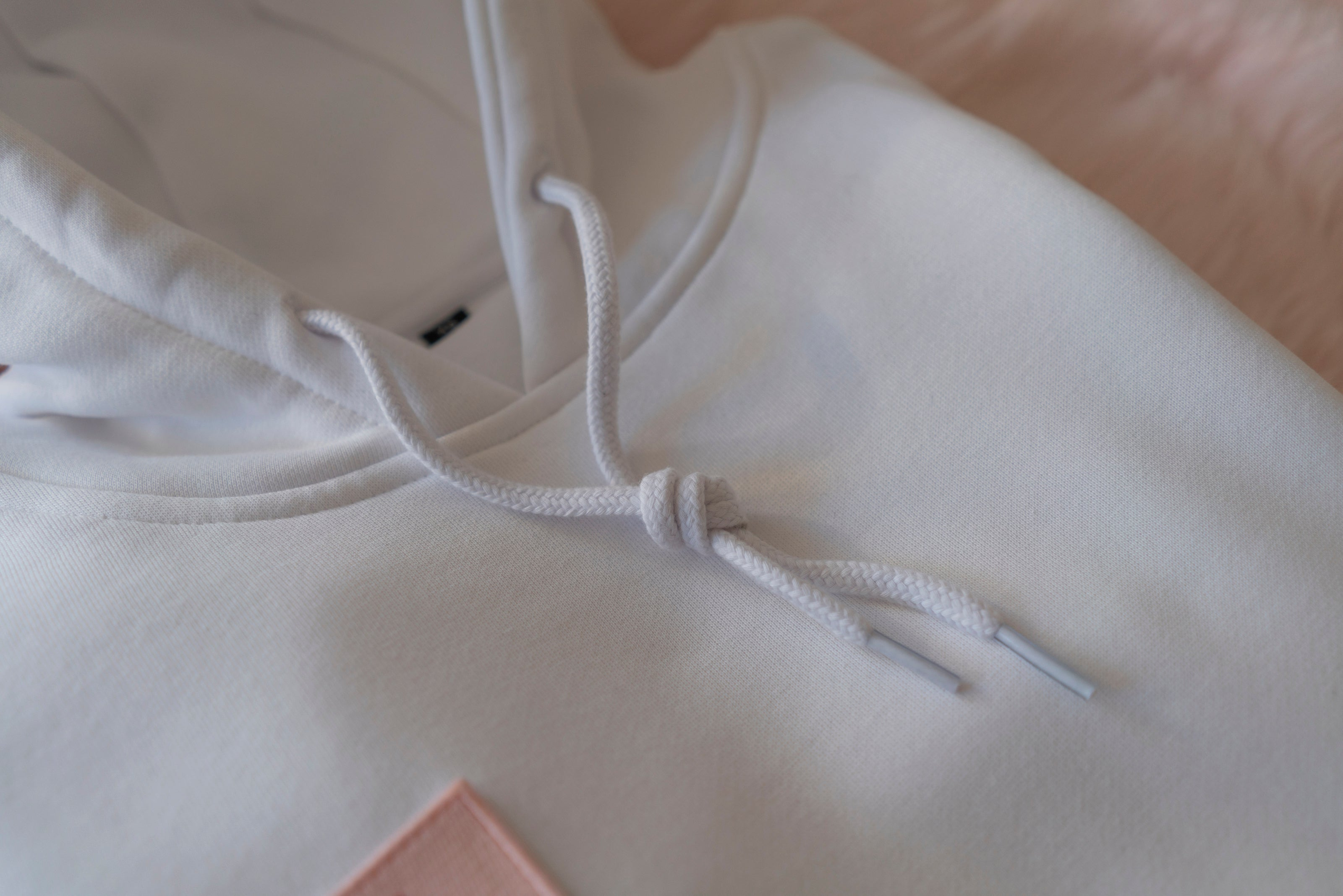 ROSE ALL DAY WHITE HOODIE