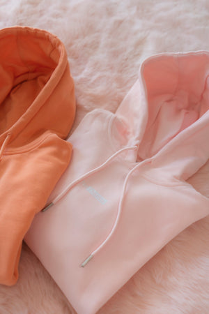 NO THANKS. SOFT PINK HOODIE