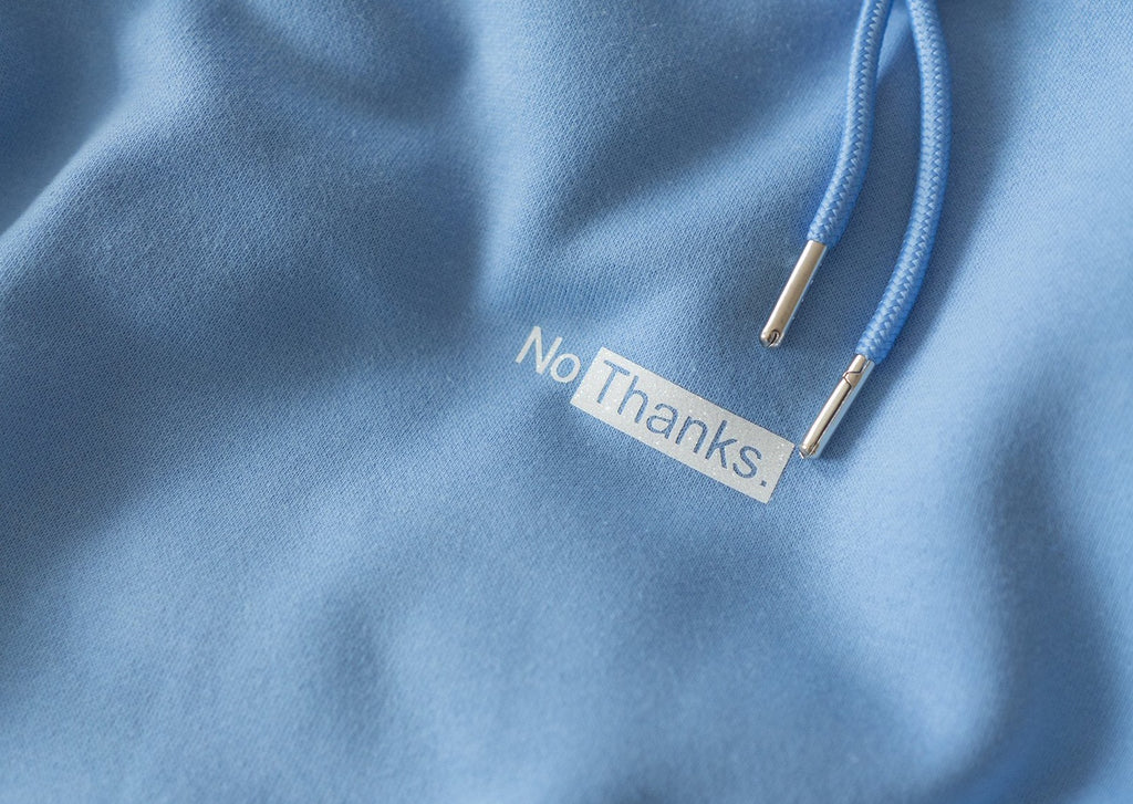 NO THANKS. JEANS BLUE HOODIE