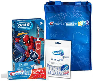 LaserGlow Oral-B Kids Electric Toothbrush Featuring Marvel's Spiderman, for Kids 3+