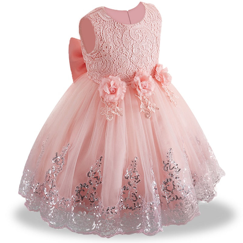 Baby Girl Summer Lace Baptism Party And Wedding Dresses