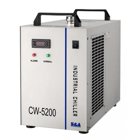 Industrial Refrigerated Water Chiller CW-5200 - Rose Graphix, Parts for Laser, rosegraphix