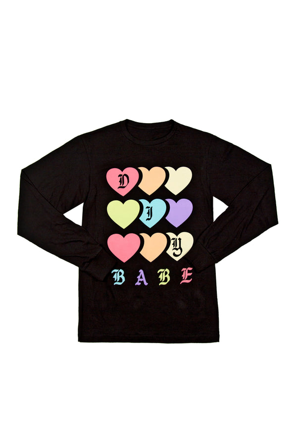 DIY Babe Hearts Long Sleeve