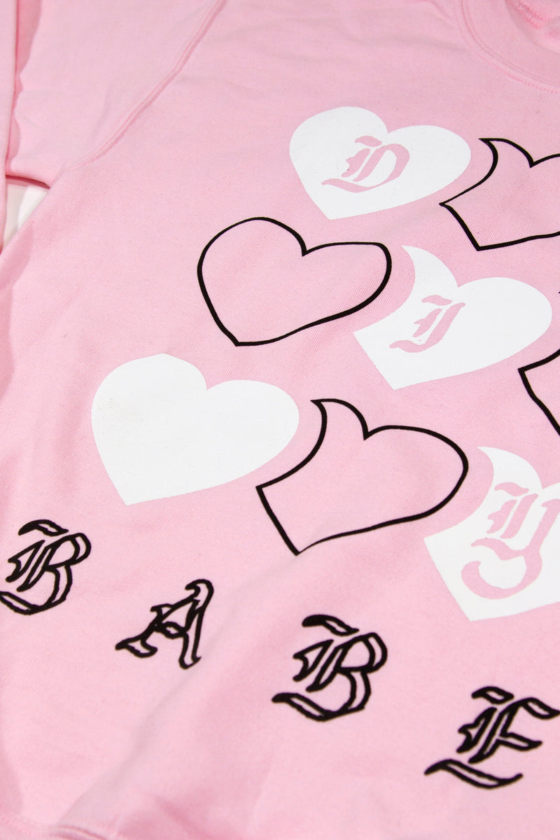 DIY Babe Hearts Crewneck