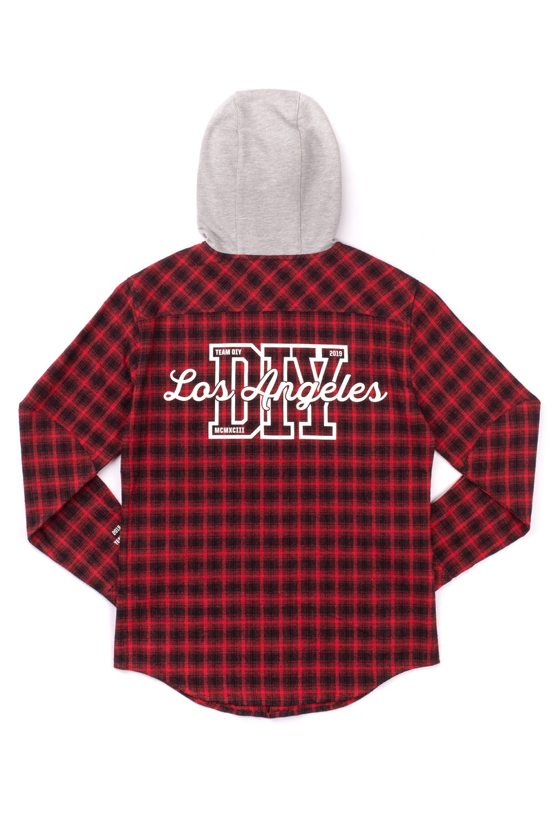 Team DIY Hooded Flannel Shirt