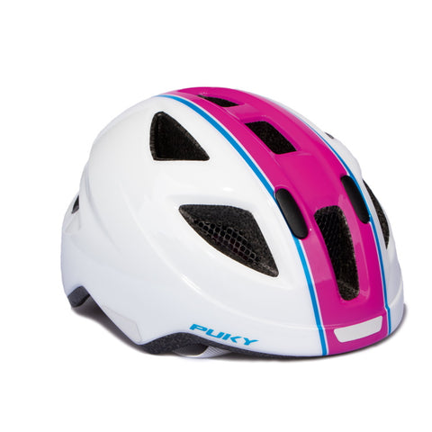 PUKY Medium Children's Helmet - White Pink