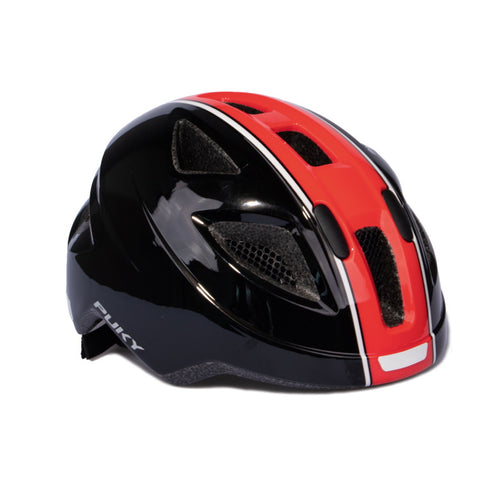 PUKY Medium Children's Helmet - Black Red