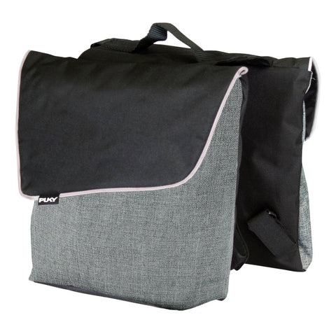PUKY Double Panniers for Bicycles - Grey