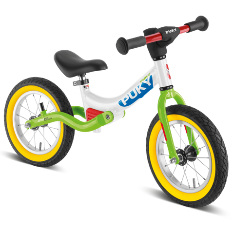 PUKY LR Splash Learner Balance Bike - White Kiwi