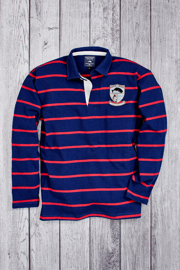 1837 Stripe Long Sleeve Knit Collar Rugby