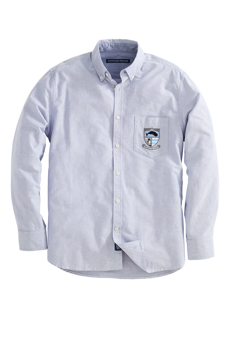1837 OXFORD Logo Crest Long Sleeve Oxford