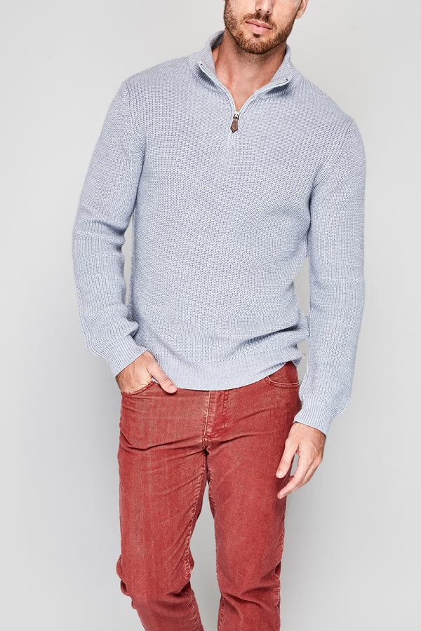 Halyard Rib Zip Mock Sweater